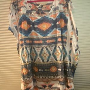 Southwest print top